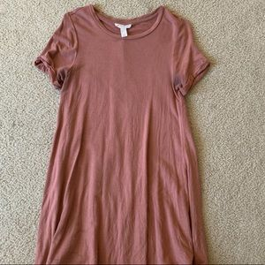 pink tee shirt dress